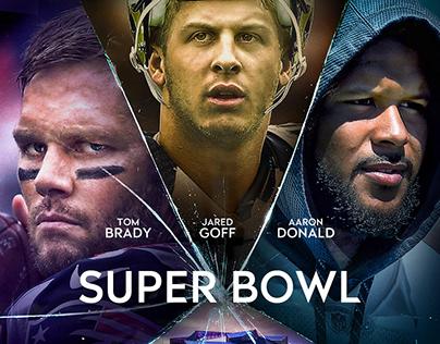 """NFL Super Bowl LIII - Rams x Patriots """"Glass"""""""