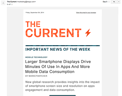 'The Current' E-Newsletter