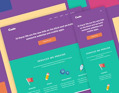 Cuda website landing page