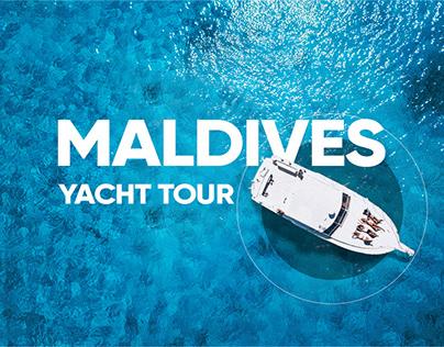 Maldives yacht tour landing