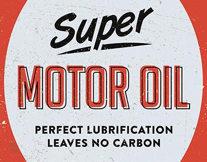 Vintage Motor Oil Illustrations