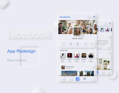 Facebook Neumorphic Redesign App