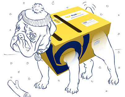 A leaflet campaign for the Czech Post we based on dogs