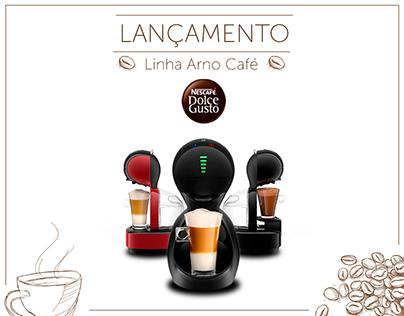 Banner Linha Arno Nescafé Dolce Gusto