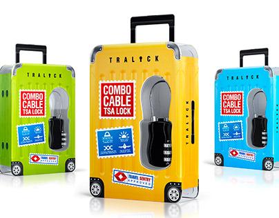 TRALOCK. Packaging Design. TSA LOCK.
