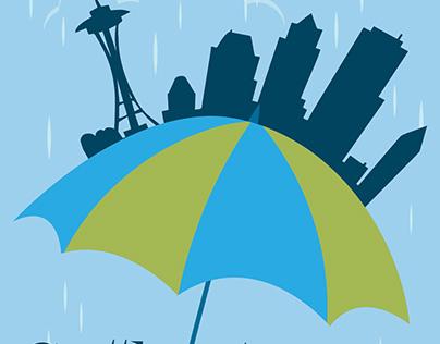 Seattle Rain - Post Card