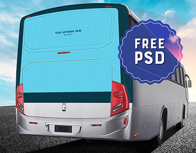 Free PSD Mockup / Busdoor / Backbus / Bus Billboard