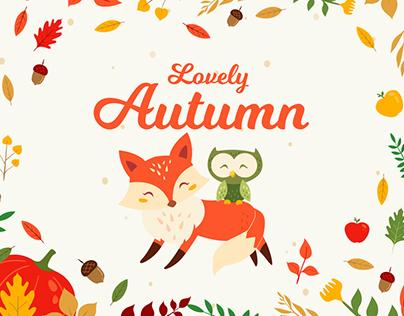 Autumn Flat Cute Vector