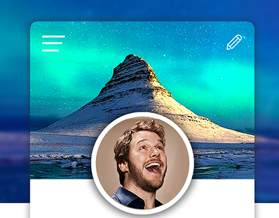 DailyUI #006 - User Profile for a Hologram Sharing App