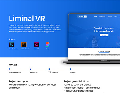 Liminal VR Website Redesign