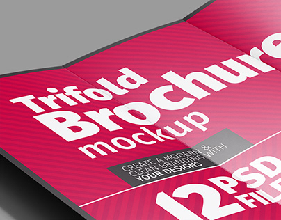 Trifold Brochure (A4) Mockup