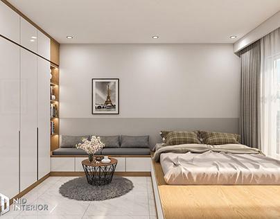 Mẫu thiết kế nội thất căn hộ chung cư 1 phòng ngủ