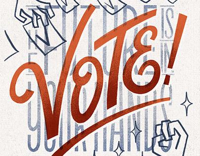 LETTERING / Vote!