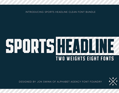SPORTS HEADLINE (8 FONTS)