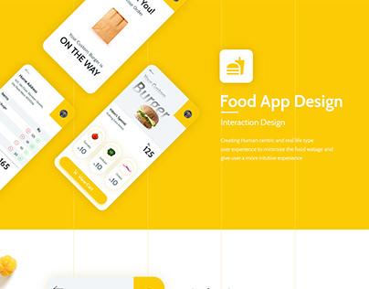 Food App - Interaction Design