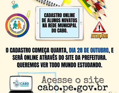 Comunicado - Cadastro online de alunos