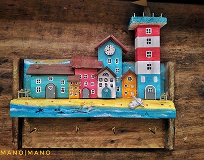 HANDMADE BEACH HOUSE KEYHOLDER