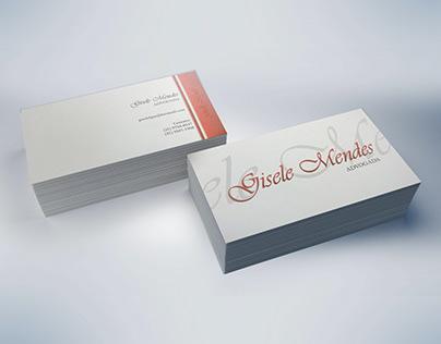 Cartão de Visitas Advogada Gisele Mendes