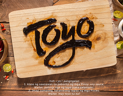 """Toyo"" Soy Sauce Food Typography"