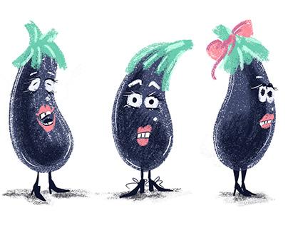 Character design: vegetables