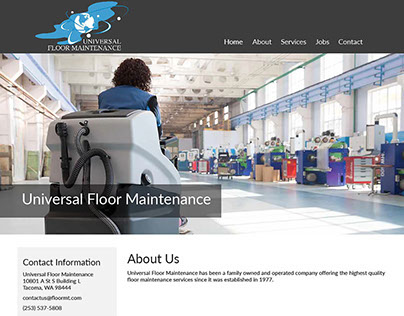 Universal Floor Maintenance Website