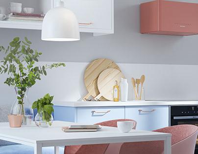 Macaroon CGI kitchens