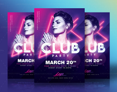 Club Party Flyer PSD