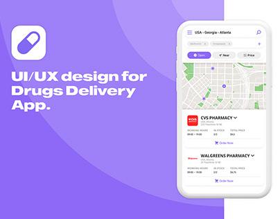 Drugs Delivery App UI/UX Design