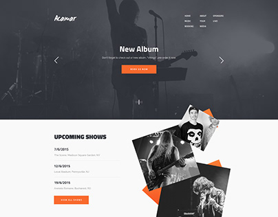 Website Design for Rock Band