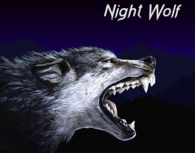 Night Wolf - Low poly