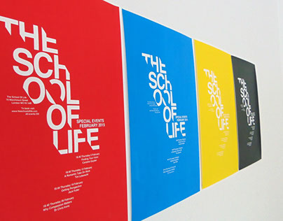 School of Life: Typographic Hirearchy