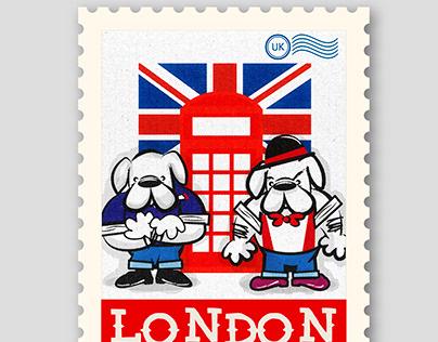 OI! punk bulldogs stamp