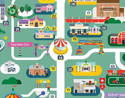 Legoland Florida map 2016