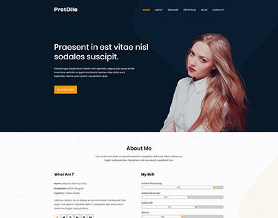ProtOlio - One Page Portfolio PSD Template