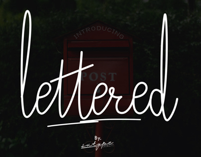 Lettered script style