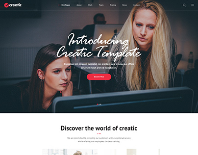 Creatic - One Page Parallax Template