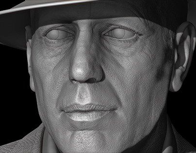 Humphrey Bogart 3d Sculpt