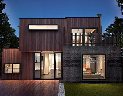 The modern house in Australia