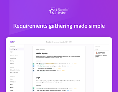 Rapid Scoper - Requirements gathering made simple