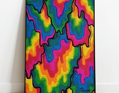 A3 Print: Tripping Rainbows