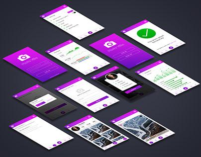 Photovilla Mobile App UI Design Mockups