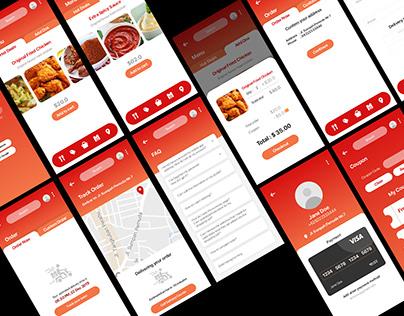 Food Service App UI/UX Design