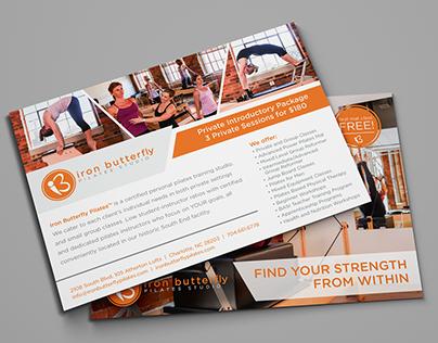 Iron Butterfly Pilates | Flyer & Apparel Design
