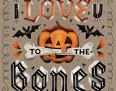 LETTERING / I love U to the Bones