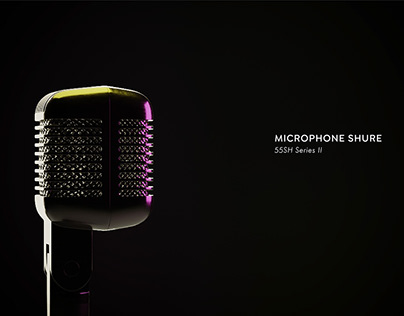 Shure Microphone 3D Model & Render