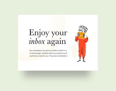 Enjoy your inbox illustration