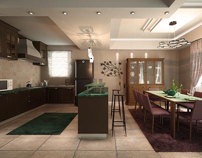 American kitchen interior