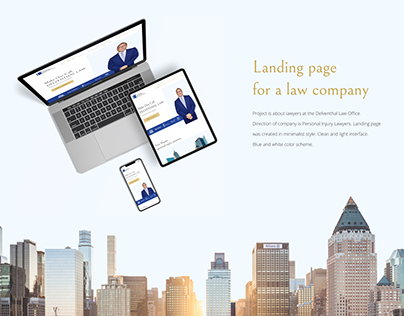 Landing page / Law company
