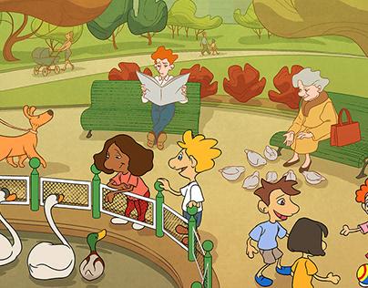 Illustrations for educational textbooks.