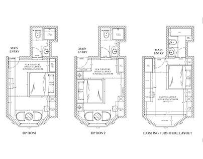 Hotel room - Space planning - Interior design